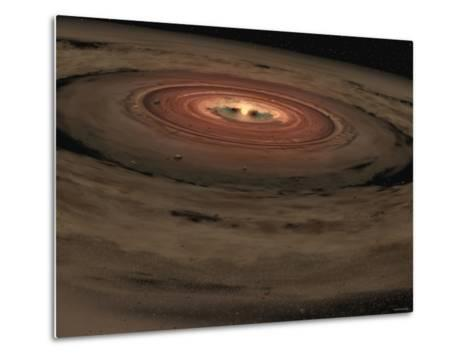 This Artist's Concept Shows a Brown Dwarf Surrounded by a Swirling Disk of Planet-Building Dust-Stocktrek Images-Metal Print