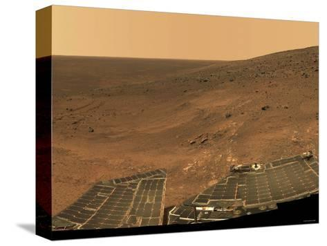 September 1, 2005, Panoramic View of Mars Taken from the Mars Exploration Rover-Stocktrek Images-Stretched Canvas Print