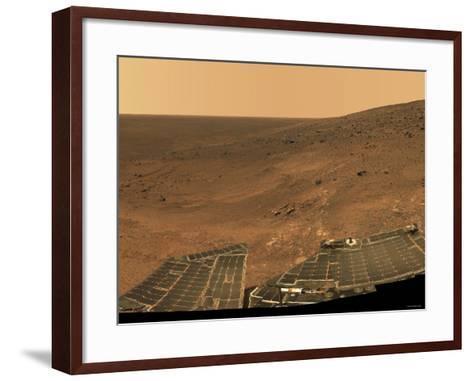 September 1, 2005, Panoramic View of Mars Taken from the Mars Exploration Rover-Stocktrek Images-Framed Art Print