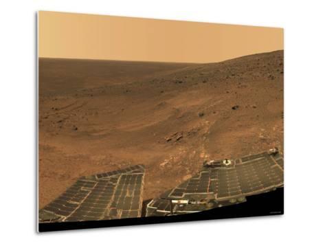 September 1, 2005, Panoramic View of Mars Taken from the Mars Exploration Rover-Stocktrek Images-Metal Print