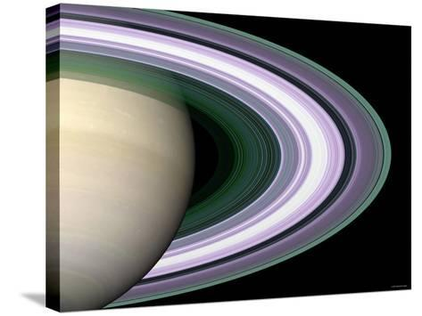 Radio Occultation: Unraveling Saturn's Rings-Stocktrek Images-Stretched Canvas Print