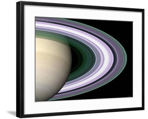 Radio Occultation: Unraveling Saturn's Rings-Stocktrek Images-Framed Art Print