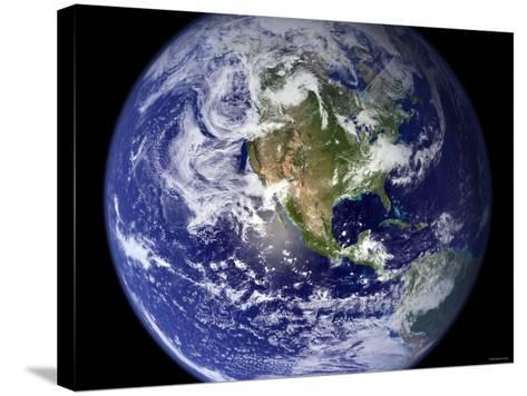 Spectacular Detailed True-Color Image of the Earth Showing the Western Hemisphere-Stocktrek Images-Stretched Canvas Print