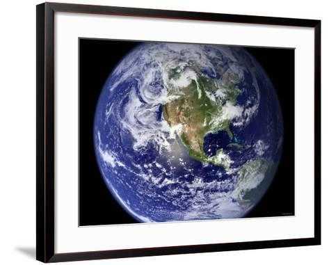 Spectacular Detailed True-Color Image of the Earth Showing the Western Hemisphere-Stocktrek Images-Framed Art Print
