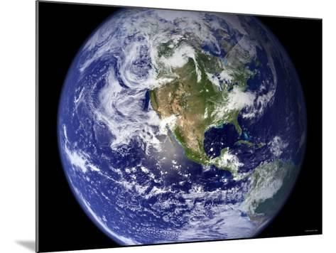 Spectacular Detailed True-Color Image of the Earth Showing the Western Hemisphere-Stocktrek Images-Mounted Photographic Print
