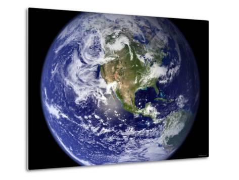 Spectacular Detailed True-Color Image of the Earth Showing the Western Hemisphere-Stocktrek Images-Metal Print