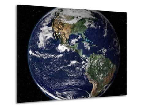 True Color Image Showing North and South America as They Would Appear from 35,000 Km Above Earth-Stocktrek Images-Metal Print