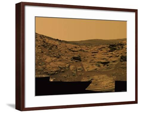 Intricately Layered Exposures of Rock-Stocktrek Images-Framed Art Print