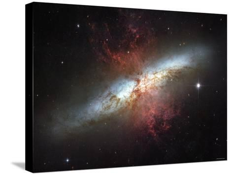 May 2006, Image of the Magnificent Starburst Galaxy, Messier 82 (M82)-Stocktrek Images-Stretched Canvas Print