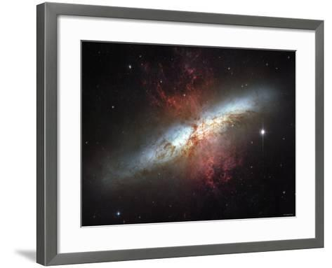 May 2006, Image of the Magnificent Starburst Galaxy, Messier 82 (M82)-Stocktrek Images-Framed Art Print