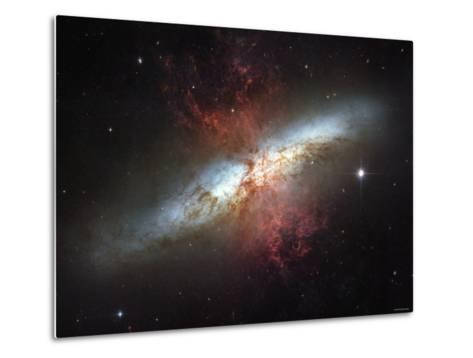 May 2006, Image of the Magnificent Starburst Galaxy, Messier 82 (M82)-Stocktrek Images-Metal Print