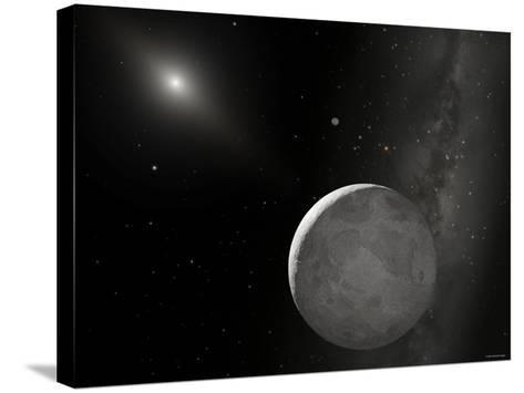 An Artist's Concept of Kuiper Belt Object 2003 UB313 (Nicknamed Xena) and Its Satellite Gabrielle-Stocktrek Images-Stretched Canvas Print