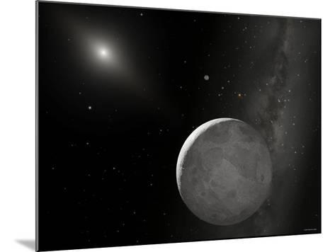 An Artist's Concept of Kuiper Belt Object 2003 UB313 (Nicknamed Xena) and Its Satellite Gabrielle-Stocktrek Images-Mounted Photographic Print