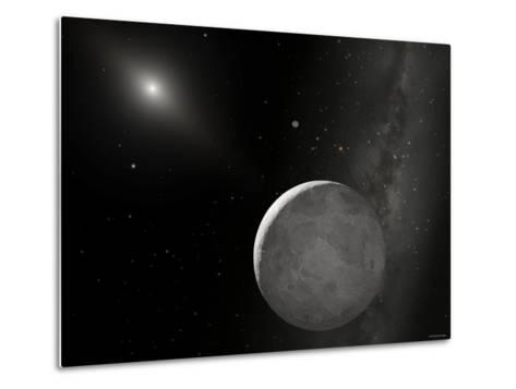 An Artist's Concept of Kuiper Belt Object 2003 UB313 (Nicknamed Xena) and Its Satellite Gabrielle-Stocktrek Images-Metal Print