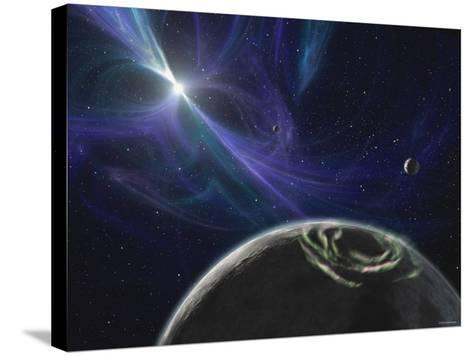 This Artist's Concept Depicts the Pulsar Planet System Discovered by Aleksander Wolszczan in 1992-Stocktrek Images-Stretched Canvas Print
