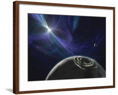 This Artist's Concept Depicts the Pulsar Planet System Discovered by Aleksander Wolszczan in 1992-Stocktrek Images-Framed Art Print