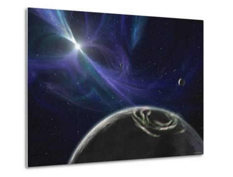 This Artist's Concept Depicts the Pulsar Planet System Discovered by Aleksander Wolszczan in 1992-Stocktrek Images-Metal Print