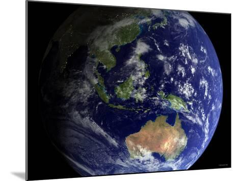 Full Earth from Space Showing Australia-Stocktrek Images-Mounted Photographic Print
