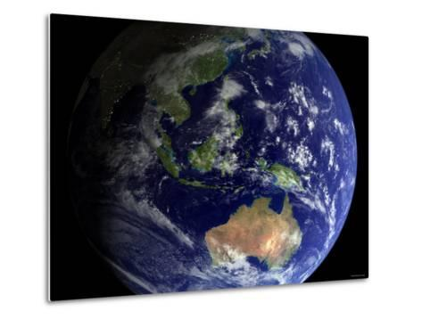 Full Earth from Space Showing Australia-Stocktrek Images-Metal Print