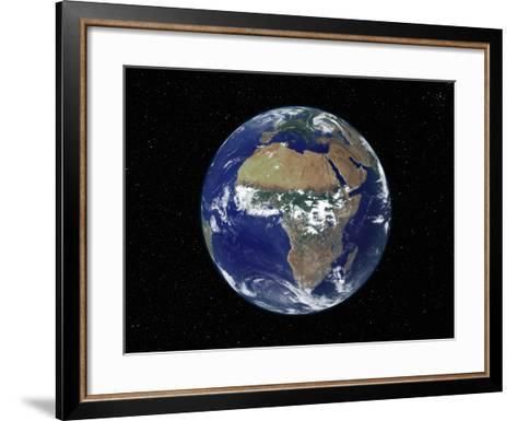 Full Earth Showing Africa, Europe During Day, 2001-08-07-Stocktrek Images-Framed Art Print