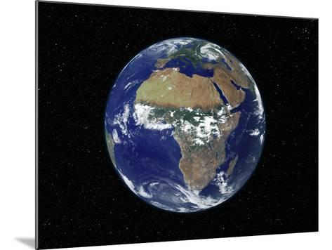 Full Earth Showing Africa, Europe During Day, 2001-08-07-Stocktrek Images-Mounted Photographic Print