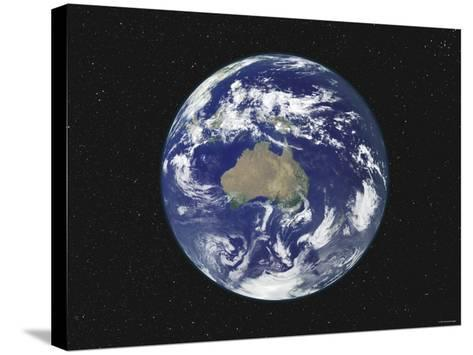Earth Centered on Australia and Oceania-Stocktrek Images-Stretched Canvas Print