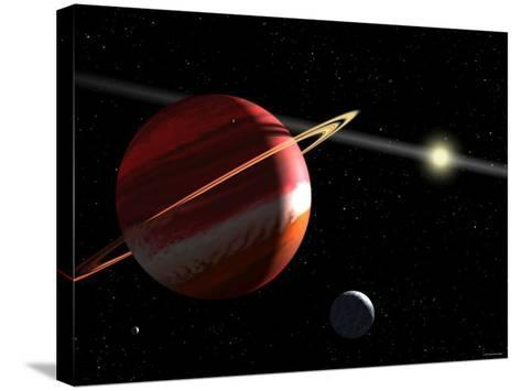 This is an Artist's Concept of a Jupiter-Mass Planet Orbiting the Nearby Star Epsilon Eridani-Stocktrek Images-Stretched Canvas Print
