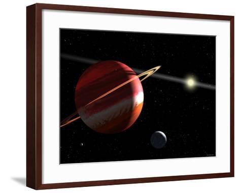 This is an Artist's Concept of a Jupiter-Mass Planet Orbiting the Nearby Star Epsilon Eridani-Stocktrek Images-Framed Art Print