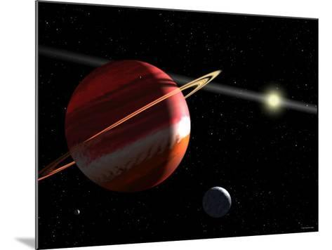 This is an Artist's Concept of a Jupiter-Mass Planet Orbiting the Nearby Star Epsilon Eridani-Stocktrek Images-Mounted Photographic Print