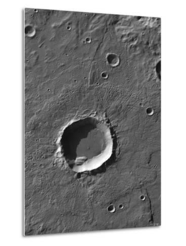 The Largest Number of Gullies on Mars Occur on the Walls of Southern Hemisphere Craters-Stocktrek Images-Metal Print