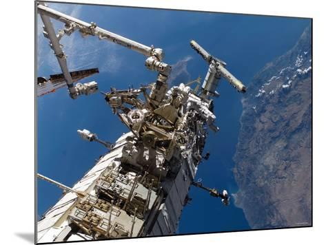 Astronauts Representing the Canadian Space Agency, Participate in a Spacewalk-Stocktrek Images-Mounted Photographic Print