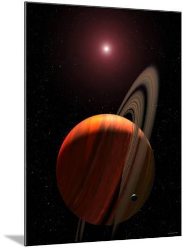 Artist's Concept of a Gas Giant Planet Orbiting a Red Dwarf K Star-Stocktrek Images-Mounted Photographic Print
