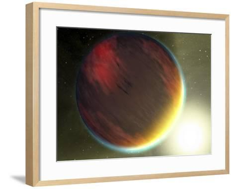 This Artist's Concept Shows a Cloudy Jupiter-Like Planet That Orbits Very Close to Its Star-Stocktrek Images-Framed Art Print