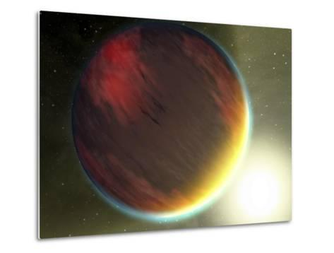 This Artist's Concept Shows a Cloudy Jupiter-Like Planet That Orbits Very Close to Its Star-Stocktrek Images-Metal Print
