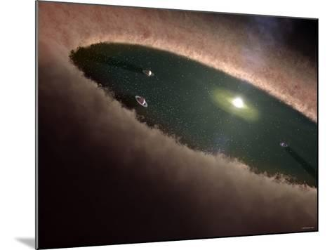 A Protoplanetary, or Planet-Forming, Disk Surrounding a Young Star-Stocktrek Images-Mounted Photographic Print