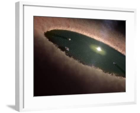 A Protoplanetary, or Planet-Forming, Disk Surrounding a Young Star-Stocktrek Images-Framed Art Print
