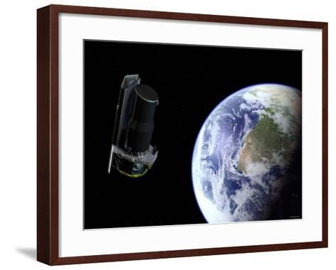 Spitzer Departing the Earth Soon after Launch, Africa is Prominently Visible-Stocktrek Images-Framed Art Print