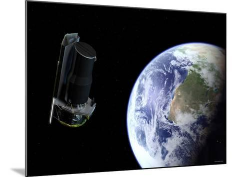 Spitzer Departing the Earth Soon after Launch, Africa is Prominently Visible-Stocktrek Images-Mounted Photographic Print