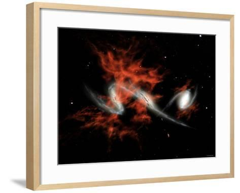 This Artist's Concept Illustrates One Possible Answer to the Puzzle of the Giant Galactic Blobs-Stocktrek Images-Framed Art Print
