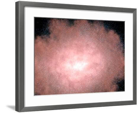 Close-Up of a Dusty and Bright Galaxy Located Billions of Light-Years Away in Infrared Light-Stocktrek Images-Framed Art Print