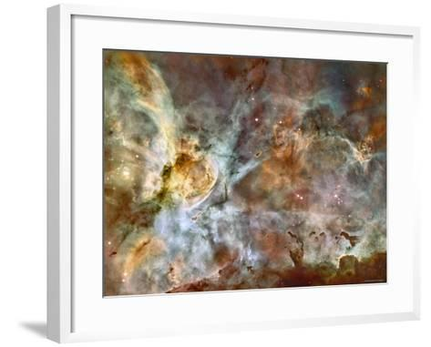A 50-Light-Year-Wide View of the Central Region of the Carina Nebula-Stocktrek Images-Framed Art Print