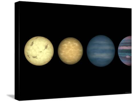 This Figure Shows an Artist's Rendition Comparing Brown Dwarfs to Stars and Planets-Stocktrek Images-Stretched Canvas Print