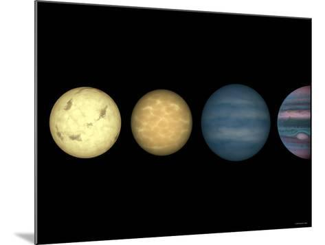 This Figure Shows an Artist's Rendition Comparing Brown Dwarfs to Stars and Planets-Stocktrek Images-Mounted Photographic Print