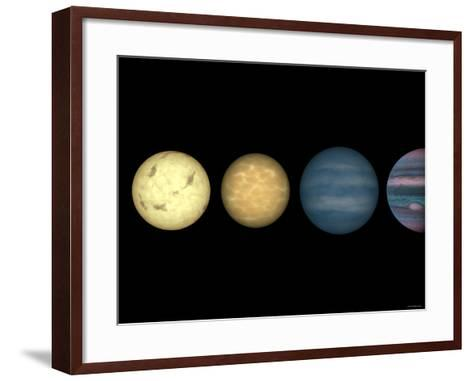This Figure Shows an Artist's Rendition Comparing Brown Dwarfs to Stars and Planets-Stocktrek Images-Framed Art Print