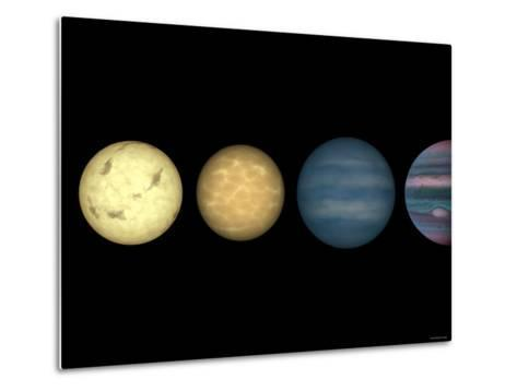 This Figure Shows an Artist's Rendition Comparing Brown Dwarfs to Stars and Planets-Stocktrek Images-Metal Print