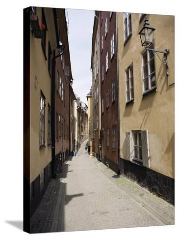 Narrow Street in Gamla Stan, Old Town, Stockholm, Sweden, Scandinavia-Richard Ashworth-Stretched Canvas Print