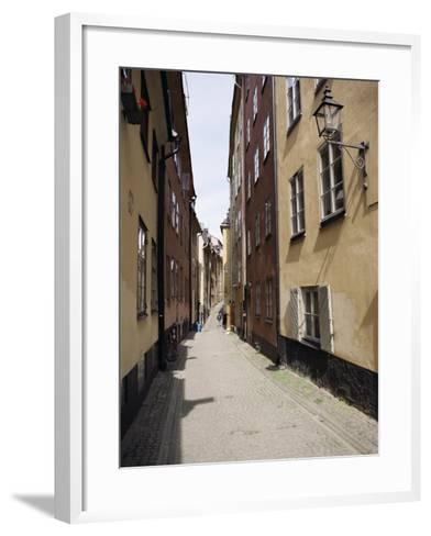 Narrow Street in Gamla Stan, Old Town, Stockholm, Sweden, Scandinavia-Richard Ashworth-Framed Art Print