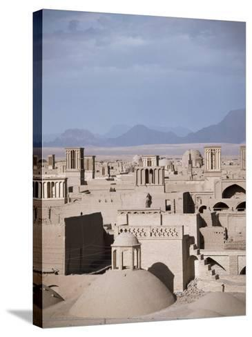 Rooftops and Wind Towers, Yazd, Iran, Middle East-Richard Ashworth-Stretched Canvas Print