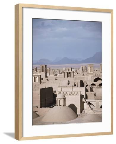 Rooftops and Wind Towers, Yazd, Iran, Middle East-Richard Ashworth-Framed Art Print
