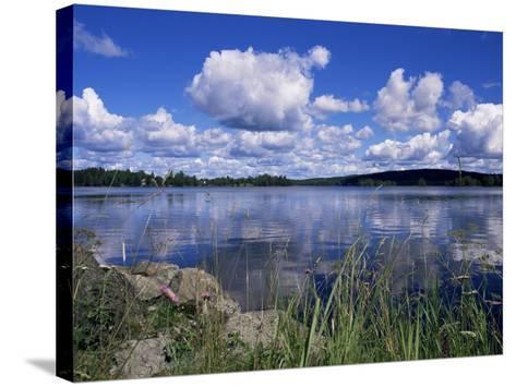 Summer, Lake at Ramen, North of Filipstad, Eastern Varmland, Sweden, Scandinavia-Richard Ashworth-Stretched Canvas Print